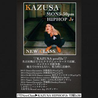 ⭐️ 7月 NEW LESSON  ▶︎▶︎▶︎ KAZUSA
