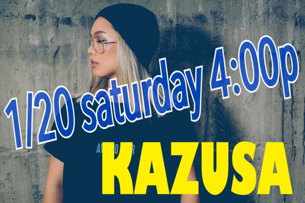 1/20 土曜日 4:00p MAYU →  KAZUSA  代行です📢