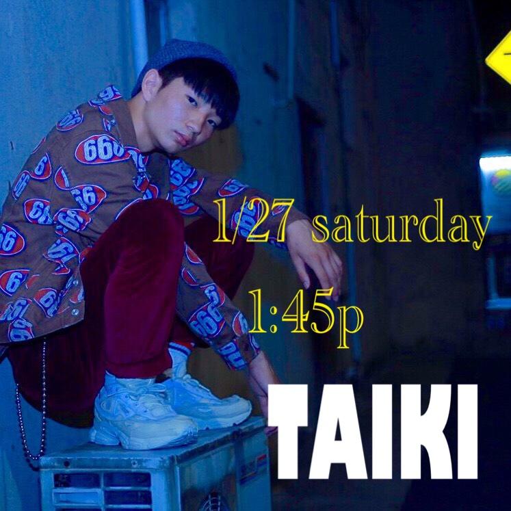 1/27土曜日 1:45p KESO→  TAIKI