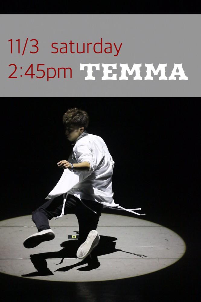 ☆ 11/3 土曜日 2:45pm  KESO ▶︎ TEMMA HIPHOP