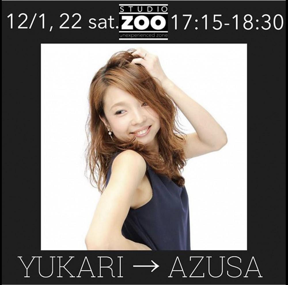 12/1(土), 22(土) 17:15-18:30 YUKARI → AZUSA
