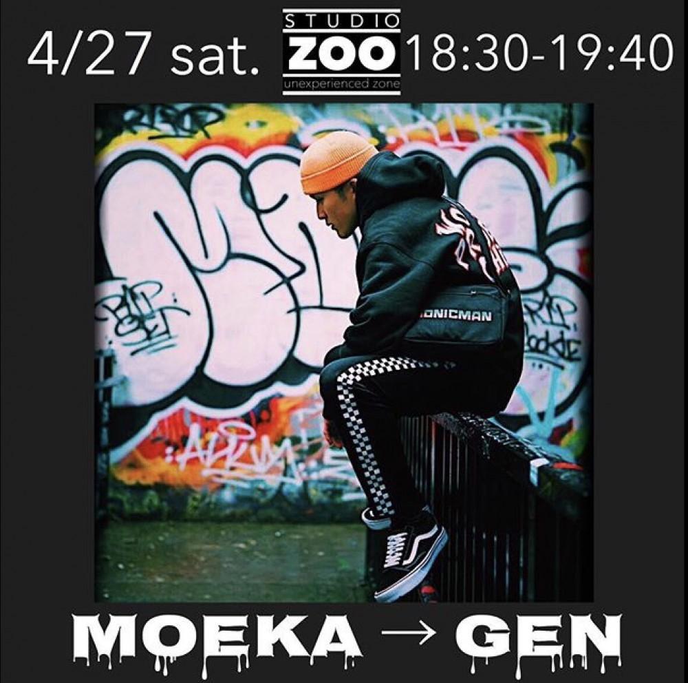 ▶︎4/27(土)代行情報 MOEKA →🔥 GEN